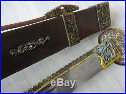 079 -Handmade Rare unique Chinese Broadsword Sword Da Dao Red copper Very heavy