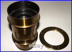 1 Kg! E. Suter Basel Rapid Portrait 2 Petzval Very Rare Fast Brass Vintage Lens