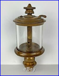 1889 C. H. Nunn Brass Oiler for Hit & Miss Gas or Steam Engine, very early & rare