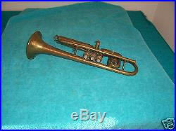 1914 CONN Victor Opera glass slide Cornet 80A used as is condition Very Rare