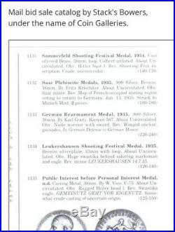 1934 Adolf Hitler Sommerfeld Shooting Festival Silvered Medal VERY RARE
