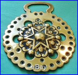 A Very Rare Antique Star Pattern Horse Brass