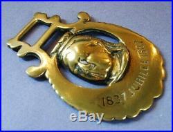 A Very Rare Commemorative Horse Brass Queen Victoria Golden Jubilee