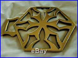 A Very Rare Hexagon Pattern Antique Cast Horse Brass