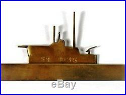 A Very Rare World War 1 German Trench Art Brass Silhouette of U-Boat SM U-35