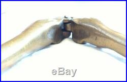 ANTIQUE HEAVY BRASS RISQUE NUT CRACKER IN THE SHAPE of WOMAN'S LEGS VERY RARE