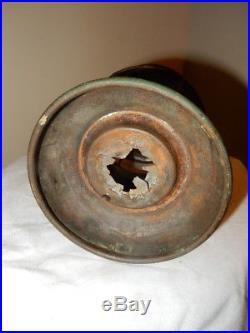 ANTIQUE Post Railroad Conductor Kerosene Brass Lantern Very RARE