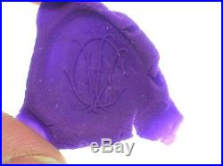 Antique 18/19th C. Wax Seal With Monkey Initials Cw 2 Long Very Rare Seal