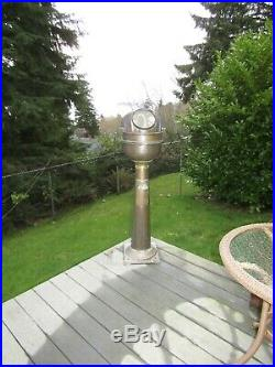 Antique 1800's All Brass Binnacle from Sailing Ship(Brown LTD Compass) very RARE