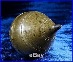 Antique 19th Century Massive Solid Brass Very Rare Mason Tool Level Plumb Bob