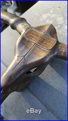 Antique Chicken Ranch Brothel La Grange Texas Brass Steer Sculpture Very Rare