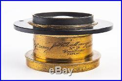 Antique J H Dallmeyer No 1a London Rectilinear 4 1/2'' F/11 Brass Lens VERY RARE