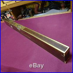 Antique Rare Stanley No 96 Brass Bound 30 Level and Plumb Very Nice Restored