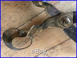 Antique Tailors shears Circa 1865 very rare beautiful scissors, Brass and steel