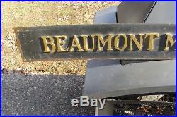 Antique Vintage Beaumont Medical Building Copper Brass Sign Plaque VERY RARE