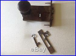 Antique c1865 VERY RARE J. B. Scammell & Co. Horizontal Mortice Lock Key Handles