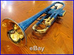 Brand New King 600 Trumpet, Beautiful Marbled Blue Finish! Very Rare MSRP $1245