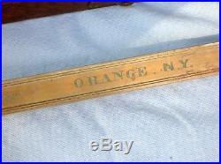 C. 1820 VERY RARE SURVEYOR BRASS RULE CHESTER, ORANGE COUNTY, NEW YORK WithEAGLE