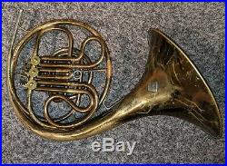 C. F. Schmidt Single French Horn Late 19th Century, Very Rare