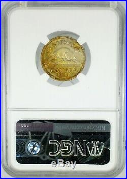 Canada 1937 5 Cents Pattern Off Metal Strike in Brass NGC SP62 Very Rare