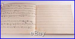 Civil War Era American Music Manuscript Brass Band Part Book Very Rare