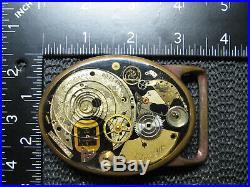 Clockworks Watch Parts Belt Buckle! Vintage! Very Rare! Tech Ether X Von West
