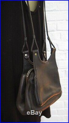 Coach VERY Vintage Bonnie Cashin Kisslock Leather Bag Black Leather RARE