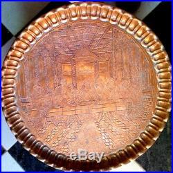Copper Plate Enamel Last Supper Vintage Jesus Brass Very Rare Decorative Art