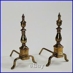 Dollhouse Miniature Artisan Very Rare Roger Gutheil Brass Andirons 112