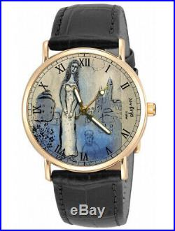 Esther Very Rare Marc Chagall Lithograph Judaism Jewish Art Brass Wrist Watch