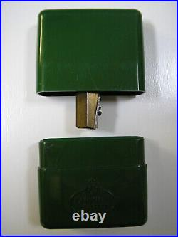 Faber Castell Brass Pencil Sharpener Fixed In Green Plastic Box 50/75 Very Rare