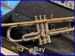 Getzen Edwards rare vintage silver trumpet very nice shape