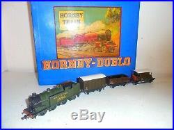 Hornby Dublo-Very RareSouthernGoods Set-Olive GreenN2(2594)xcelnt/boxd c1947