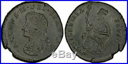 IRELAND 1691 Brass 1/2 Penny. PCGS MS62. Limerick Siege issue, very rare quality