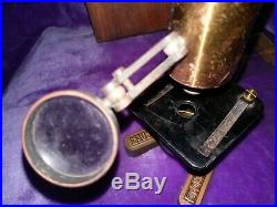 Improved Household Microscope From Late 1800's Brass Antique Very Rare