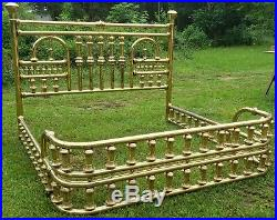 King Size Brass Tuba Bed- Rare and Very Ornate