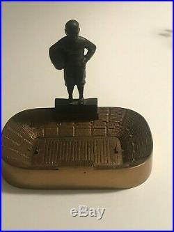 Knute Rockne Notre Dame Stadium Souvenir Building Ashtray Rare Very Heavy Brass