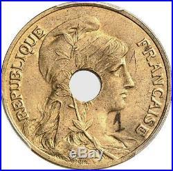 O22 Very rare 10 Centimes Dupuis 1908 Essai Pattern Brass #1 PCGS SP63 -M offer