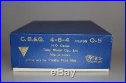 PFM Crown TOBY CB&Q 4-8-4 Brass O-5 Steam Locomotive & Tender # 5631 VERY RARE