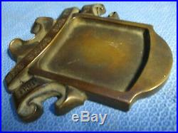 Packard Bronze/Brass Early Dealer Ash Tray, Solid and Heavy- Very Rare- 6 1/4