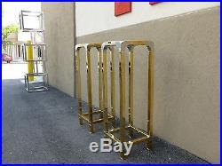 Pair Of Very Rare 70's MID Century Modern Mastercraft Brass Pedestals
