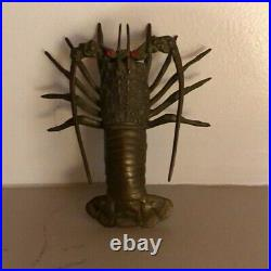 RARE Vintage Brass Spiny Lobster Sculpture Very Detailed and Unique