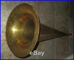 Rare Original Edison Concert Phonograph 42 Long Brass Horn Very Good