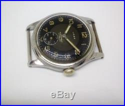 Rare Vintage Military Bulova swiss watch works very exact stainless steel case