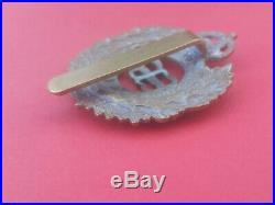 Royal Engineers Militia Cap Badge Brass With Slide Eviiir King's Crown Very Rare