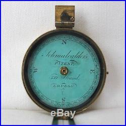 SCHMALCALDERS PATENT PRISMATIC COMPASS c. 1826 VERY RARE GEORGIAN ANTIQUE BRASS