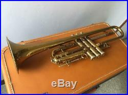 SELMER Trumpet Balanced Model 1953 Vintage Very Rare With Hard Case Used 2-022