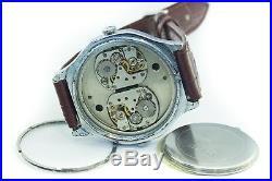 SLAVA very rare soviet vintage watch mechanical Two mechanisms USSR