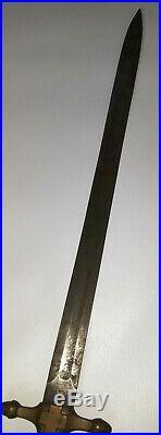 Sardinian Italian Short Sword Brass Handle Very Rare Antique