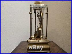 Schatz & Schone Lectronic Clock Brass June 1958 Working Condition Very Rare
